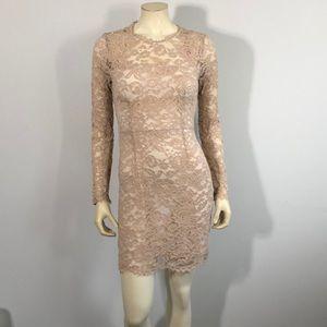 Forever 21 lace cream mini dress small